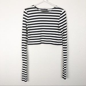 Zara Long Sleeve Crop Top M